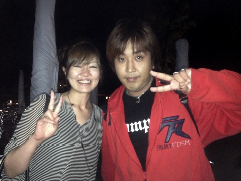 Katchi and Rie on the night when I met them.